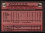 1989 Topps #487  Scott Lusader  Back Thumbnail