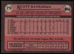 1989 Topps #79  Scott Bankhead  Back Thumbnail