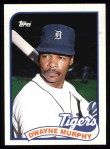 1989 Topps #667  Dwayne Murphy  Front Thumbnail
