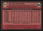 1989 Topps #561  Luis Aguayo  Back Thumbnail