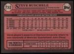 1989 Topps #732  Steve Buechele  Back Thumbnail