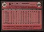 1989 Topps #511  Richard Dotson  Back Thumbnail