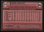 1989 Topps #322  John Smiley  Back Thumbnail