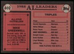 1989 Topps #402   -  Mike Greenwell All-Star Back Thumbnail