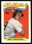 1989 Topps #402   -  Mike Greenwell All-Star Front Thumbnail