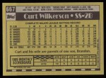 1990 Topps #667  Curt Wilkerson  Back Thumbnail