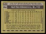 1990 Topps #263  Mel Stottlemyre Jr.  Back Thumbnail