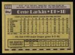 1990 Topps #556  Gene Larkin  Back Thumbnail