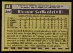 1990 Topps #44   -  Roger Salkeld #1 Draft Pick Back Thumbnail