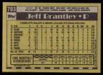1990 Topps #703  Jeff Brantley  Back Thumbnail