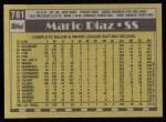 1990 Topps #781  Mario Diaz  Back Thumbnail