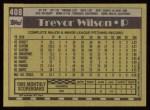 1990 Topps #408  Trevor Wilson  Back Thumbnail