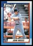 1990 Topps #653  John Moses  Front Thumbnail