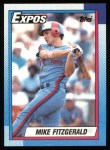 1990 Topps #484  Mike Fitzgerald  Front Thumbnail