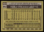 1990 Topps #484  Mike Fitzgerald  Back Thumbnail
