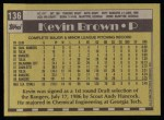 1990 Topps #136  Kevin Brown  Back Thumbnail