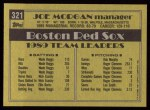 1990 Topps #321  Joe Morgan  Back Thumbnail