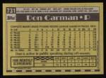 1990 Topps #731  Don Carman  Back Thumbnail