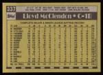 1990 Topps #337  Lloyd McClendon  Back Thumbnail