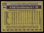 1990 Topps #584  Phil Stephenson  Back Thumbnail