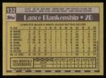 1990 Topps #132  Lance Blankenship  Back Thumbnail