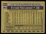 1990 Topps #641  Doug Strange  Back Thumbnail