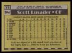 1990 Topps #632  Scott Lusader  Back Thumbnail