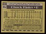 1990 Topps #147  Chuck Finley  Back Thumbnail