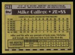 1990 Topps #293  Mike Gallego  Back Thumbnail