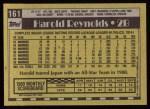 1990 Topps #161  Harold Reynolds  Back Thumbnail