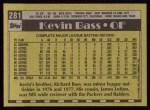 1990 Topps #281  Kevin Bass  Back Thumbnail