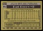 1990 Topps #541  Pat Perry  Back Thumbnail