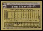 1990 Topps #756  Ken Howell  Back Thumbnail
