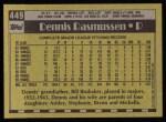 1990 Topps #449  Dennis Rasmussen  Back Thumbnail