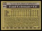 1990 Topps #654  Paul Coleman  Back Thumbnail