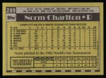 1990 Topps #289  Norm Charlton  Back Thumbnail