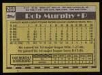 1990 Topps #268  Rob Murphy  Back Thumbnail