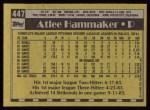 1990 Topps #447  Atlee Hammaker  Back Thumbnail