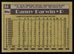 1990 Topps #64  Danny Darwin  Back Thumbnail