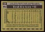 1990 Topps #59  Ted Power  Back Thumbnail