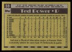 1990 Topps #59  Ted Power  Back Thumbnail