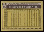 1990 Topps #55  Darrell Evans  Back Thumbnail