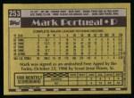 1990 Topps #253  Mark Portugal  Back Thumbnail