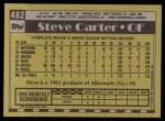 1990 Topps #482  Steve Carter  Back Thumbnail