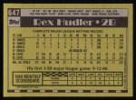 1990 Topps #647  Rex Hudler  Back Thumbnail