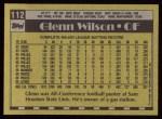 1990 Topps #112  Glenn Wilson  Back Thumbnail