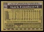 1990 Topps #566  Mark Knudson  Back Thumbnail