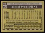 1990 Topps #95  Todd Worrell  Back Thumbnail