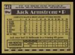 1990 Topps #642  Jack Armstrong  Back Thumbnail