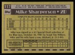 1990 Topps #117  Mike Sharperson  Back Thumbnail
